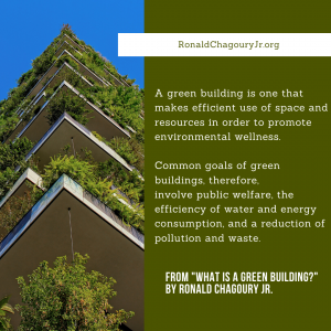 What Is Green Building Ronald Chagury Quote